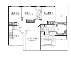 classical style house plan 4 beds 2 5 baths 2514 sq ft plan