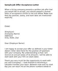 job acceptance letter 6 free word pdf documents download