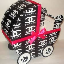 chanel inspired baby carriage table from rainbowshowers on etsy