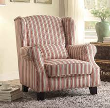 homelegance la verne accent chair with 1 kidney pillow red cream