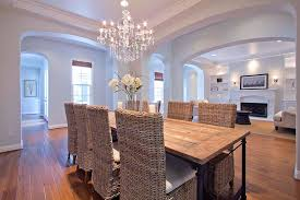 Dining Room Table Chandeliers Traditional Dining Room With Columns U0026 Hardwood Floors In Thousand