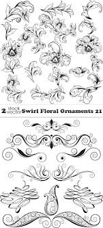 vectors swirl floral ornaments 21 2 ai tiff preview 18 mb