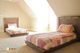 How To Build A Twin Platform Bed Frame by 30 Pottery Barn Inspired Twin Platform Bed Shanty 2 Chic