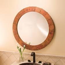 copper bathroom mirrors tuscany 36 inch round copper mirror native trails