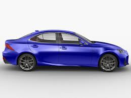 lexus sports car isf lexus is f sport 2017 3d cgtrader
