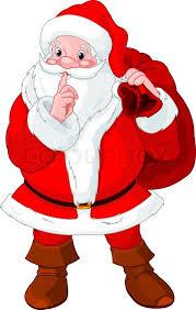 santa claus picture illustration of santa claus gesturing shush stock vector colourbox