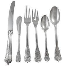 rosenborg by a michelsen sterling silver flatware set service