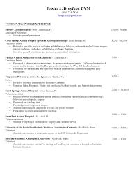 Sample Resume First Job by Doctor Of Veterinary Medicine Resume Corpedo Com