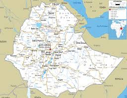 Map Of Africa With Cities by Detailed Clear Large Road Map Of Ethiopia Ezilon Maps