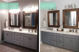 Painting A Bathroom Vanity Before And After by Painted Bathroom Cabinets U2013 Diystinctly Made