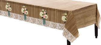 plastic table covers for weddings rustic wedding plastic table cover 54in x 102in party city