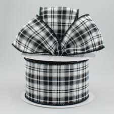 and black plaid ribbon 2 5 black white scotch plaid ribbon 10 yards rt16 184