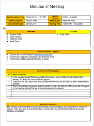mom format template 4 free downloads free project management