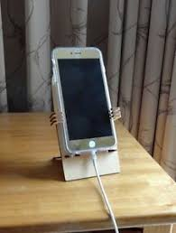 smart phone holder desk stand universal laser cut wood iphone 6