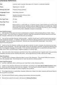awesome collection of writing a reference letter character with
