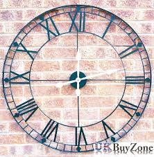 ship wheel wall clock large antique style shabby chic contemporary