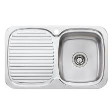 Oliveri LakeLand Single Bowl Inset Sink With Drainer Bunnings - Kitchen sink bunnings