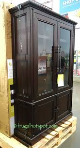 bayside furnishings glass door bookcase costco frugalhotspot