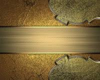 Gold Nameplate Gold Nameplate Element For Design Template For Design Copy Space
