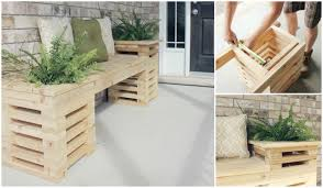 Easy Wooden Bench Plans Diy Cedar Bench With Planter Frames