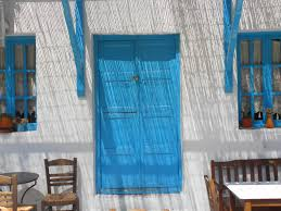 Greek Flag Background Blue Doors And Windows Another Bag More Travel