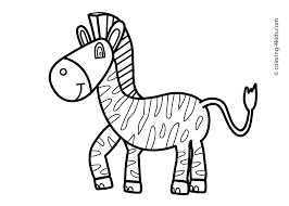 printable zebra coloring pages for kids animal place pictures to