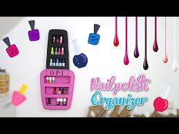 nail polish organizer diy nail polish rack with cardboard box
