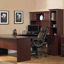 Office Max L Desk Officemax Illustra Desk With Hutch Om02491 Ebay