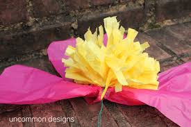 tissue paper flowers make the coolest tissue paper flowers
