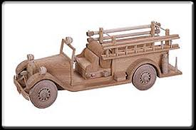 1933 seagrave fire truck pattern no tj59 wood toys and miniatures