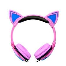 light up cat headphones cat headphones w light up ears pink for lexibook furby
