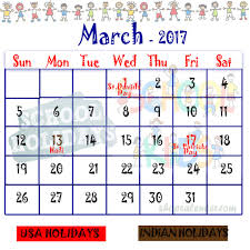 march 2017 school holidays blank free calendar templates
