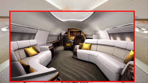 luxury private jets the most luxury private jet interior youtube
