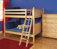 Maxtrix Low Bunk Bed WAngled Ladder FullFull - Maxtrix bunk bed
