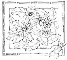 free nature coloring pages coloring page drawing hand