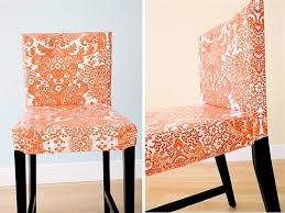 How To Cover A Dining Room Chair Orange Chair Cover For Dining Room Chair Home Interiors