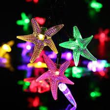 qedertek solar string lights qedertek fairy christmas lights starfish solar string lights 20ft 30