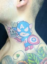 tokidoki marvel edition captain america neck tattoo youtube