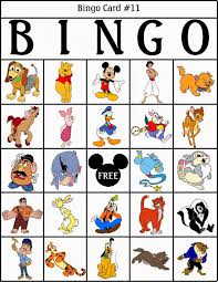 Printable Halloween Bingo by Robbygurl U0027s Creations Disney Bingo Bingo Pinterest