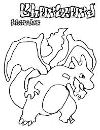 pokemon charizard coloring netart