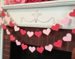 valentines day decorations valentine garland 6ft red white