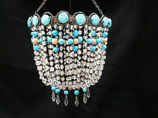Beaded Turquoise Chandelier Beaded Chandelier Lamp Shades Ebay
