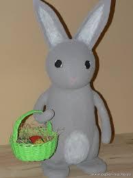paper mache rabbit papier mache easter bunny