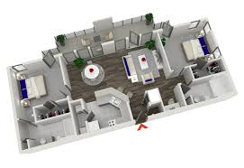 Floor Plan With Roof Plan Popular Of Two Bedroom Apartments On House Design Plan With