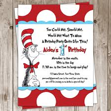 Dr Seuss Home Decor by Dr Seuss Birthday Invitations Cloveranddot Com