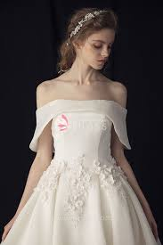 ivory wedding dresses princess the shoulder gown ivory wedding dress with