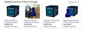 hammer of thor palu palsu di google iklan lazada klg herbal