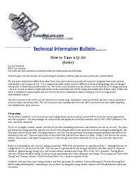 q jet tuning paper carburetor throttle