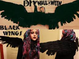 halloween angel wings diy costume wings youtube