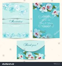Example Of Invitation Card Set Invitation Cards Wedding Delicate White Stock Vector 600319166